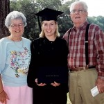 Blonde female following graduation