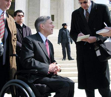 GregAbbottRightProfileWheelchair-TexasAttorneyGeneralDOTGov-March2005-450px