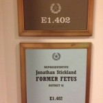 Republican leader orders pro-life 'former fetus' sign taken off lawmaker's door